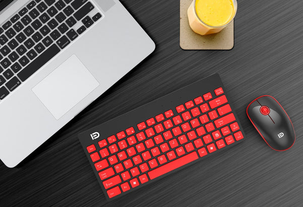 2.4GHz Ultrathin Portable Wireless Keyboard and Mouse Combo With Multimedia Shortcuts, Long Battery Life & Ergonomic Design