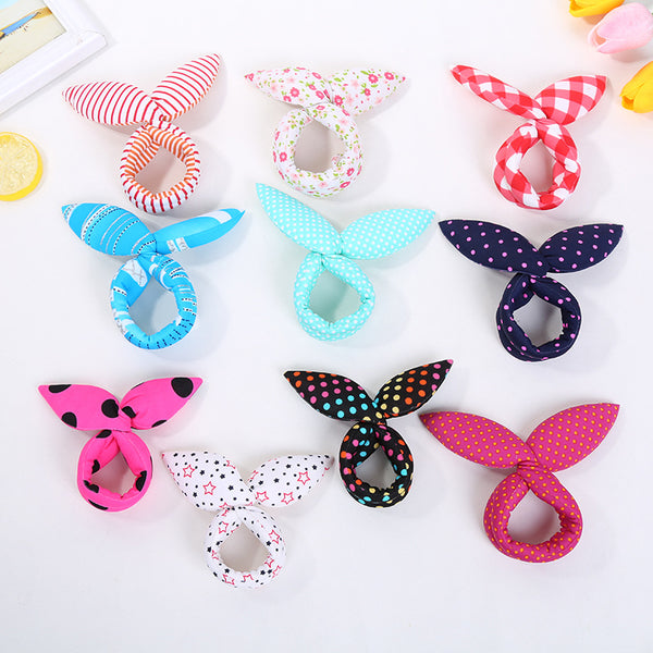 Cotton Fabric Bun Wrap to Make Cute Knot with Bunny Ears