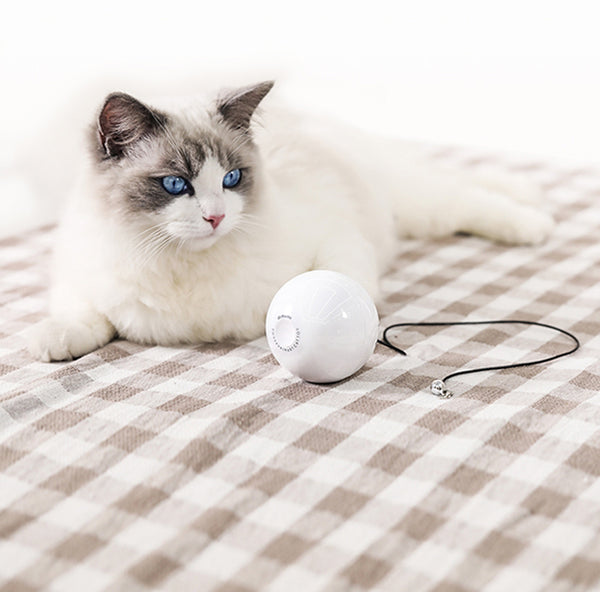 Smart Automatic Interactive Cat Ball With 360° Self Rotating, Build-in Red Laser & Metal Bell