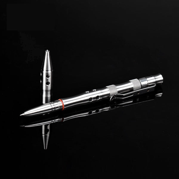 Multi-function Defensive Tungsten Tactical Pen with Flashlight