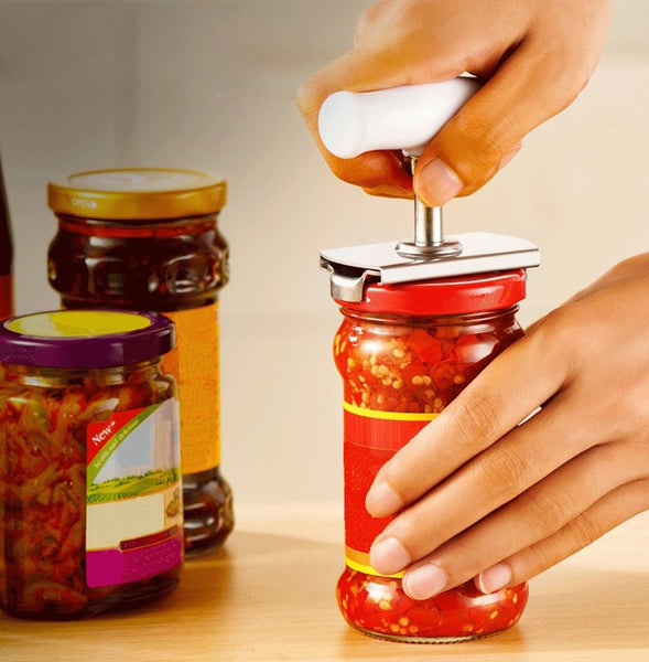Stainless Steel Jar Opener, Easy to Twist, Fits Most Jars, for Women, Seniors and Everyday Use
