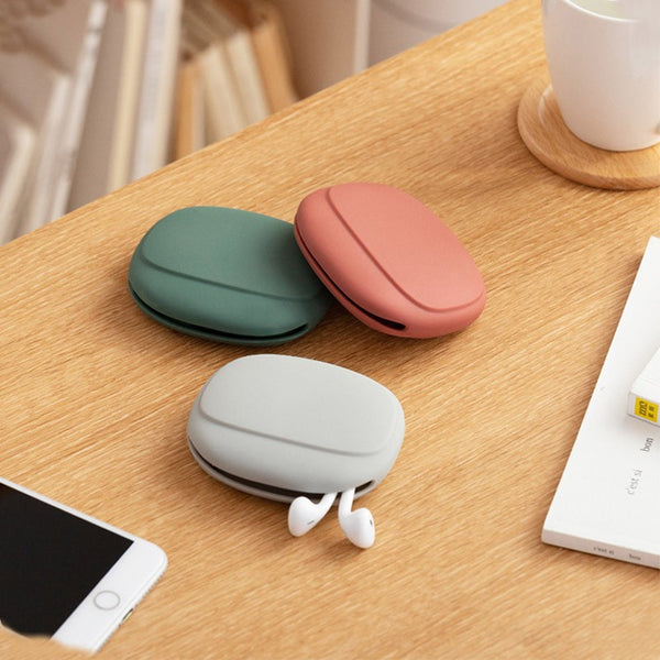 Mini Portable Silicone Earphone Storage Pouch, for Earphone, Cable, Flash Drive and More