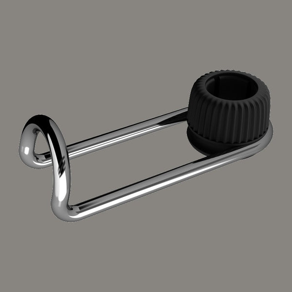 Aluminum Alloy Car Headrest Hook, with 10kg Bearing, Adjustable & 360° Rotatable Design