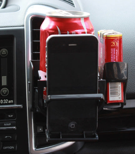 All-in-One Car Mount, Hold The Cup, Phone, Cigarette And More