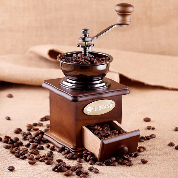 Preserve That Original Aroma with Wooden Vintage Coffee Grinder