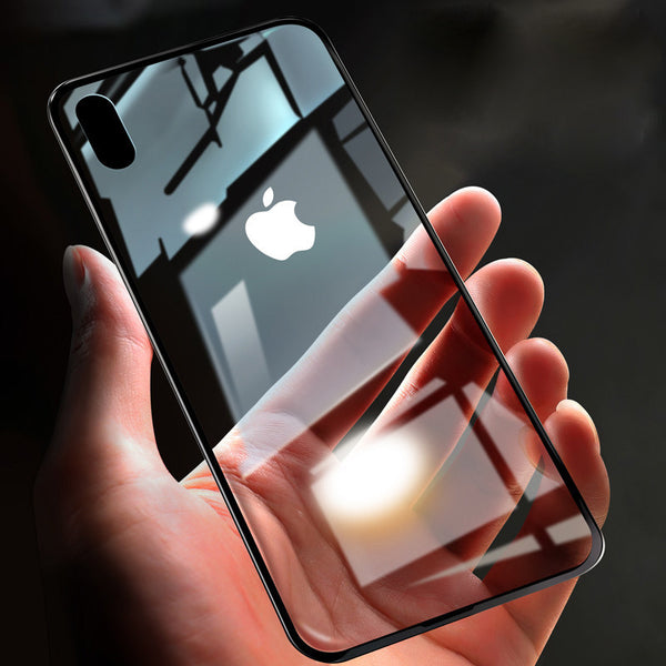 Set Your iPhone Face down Forgivingly with Near-invisible Glass Case