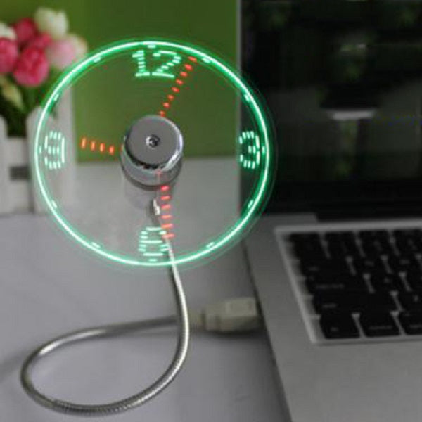 Flexible & Customizable LED USB Soft Fan with a Hidden Clock Face