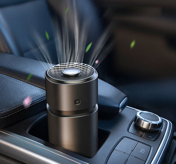 Car Aroma Fan with Formaldehyde Purification Function, Upgraded Wind System, Fast and Uniform Fragrance Release, Alloy Shell and 3 Modes