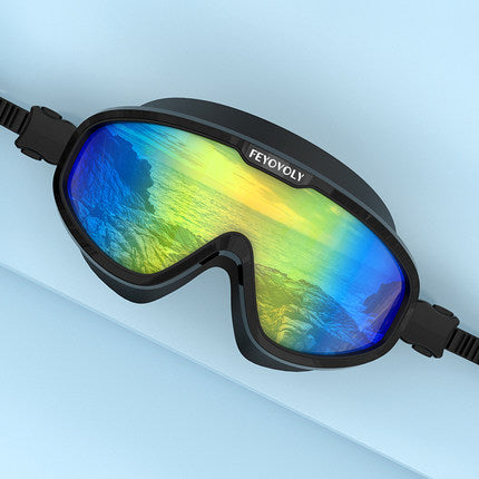Anti-fog Swim Goggles With Prescription, Up to -7.0, No Leaking, Crystal Clear & 180° Panoramic Vision, With Protective Case