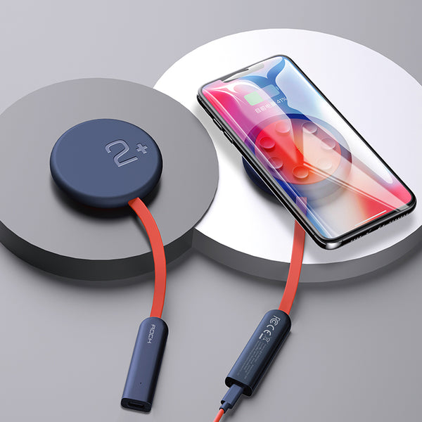 Double-side W24 Fast Charging Wireless Charger with Charging Status Indicator and Suction Cup, For iPhone, Huawei, Xiaomi & More