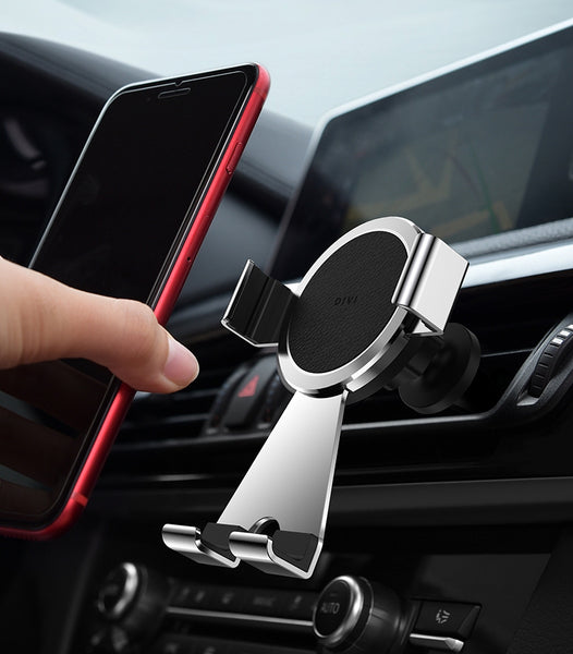 360 Degree Swivel Car Mount With Universal Fit Cradle & 4D Automatic Lock, Compatible With All Smartphones