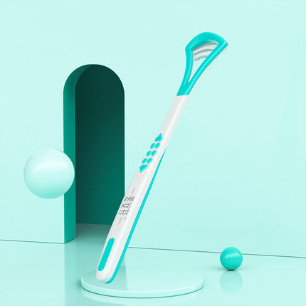 Dual Function Tongue Cleaner Brush & Scraper, Your Tongue Deserve A Bath