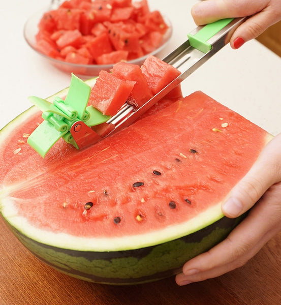 Watermelon Windmill Cutter, Perfect Cubes Makes A Perfect Summer