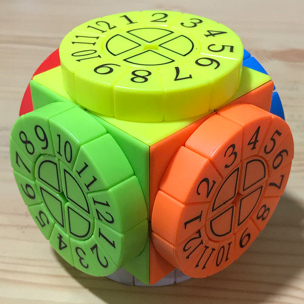 Hardest Magic Cube, with 6 Color Surfaces and 6 Roulette Wheels, for Kids and Adults