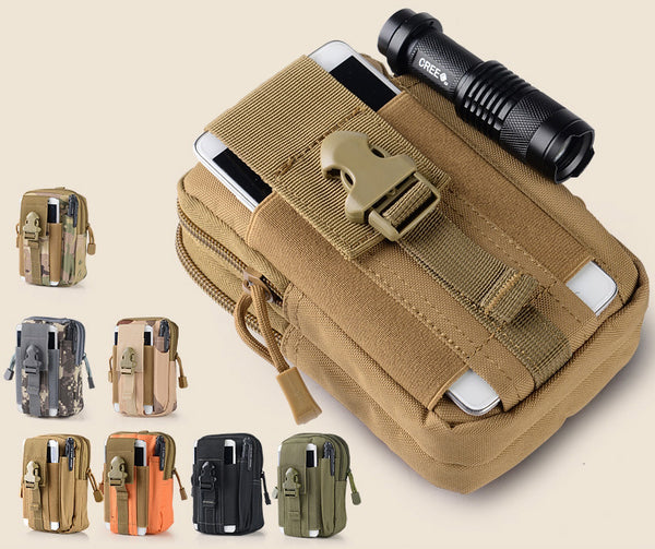 Light-weight & Large Capacity Belt Waist Bag With Cell Phone And Pen Holder