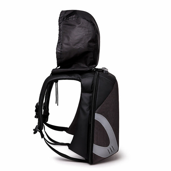 Anti-Theft Waterproof Travel Backpack, With Detachable Waterproof Hat & Fits 15.6-Inch Laptop