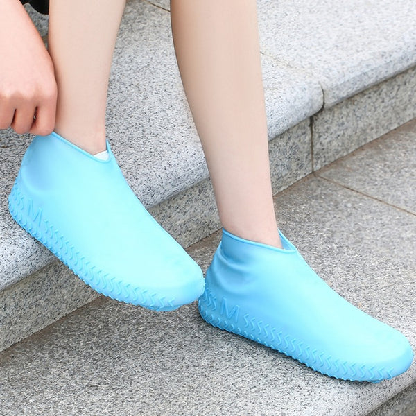 Reusable Waterproof Silicone Shoe Cover, with Non-Slip Sole Pattern, for Men, Women & Kids (1 Pair)