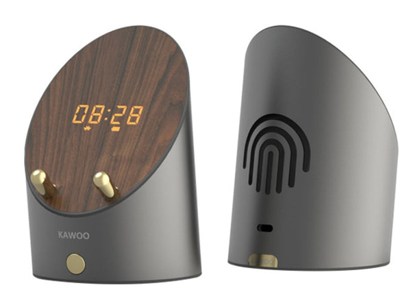 Wireless Induction Bluetooth Desktop Mini Speaker, with Clock, Alarm, Phone Holder, No Bluetooth Connection Required