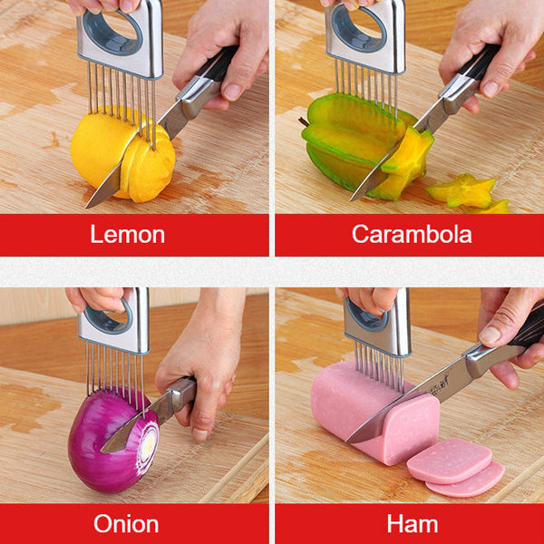 Stainless Steel Slicing Holder, Easy Cooking, Easy Sharing