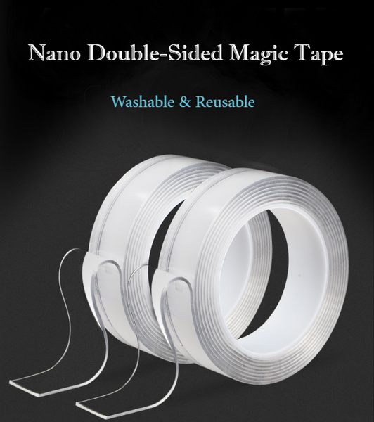 Nano Washable Reusable Double-Sided Magic Traceless Tape
