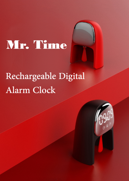 Voice Control Digital Alarm Clock With Night Light, Dual Alarm Mode & Snooze Function