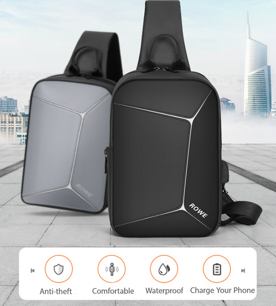 Anti-theft Sling Bag With USB Charging Port For Traveling, Cycling & Hiking