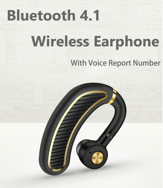 Bluetooth 4.1 Stereo Single-Ear Earphone With Mic & Voice Report Number, For Business, Sports & More
