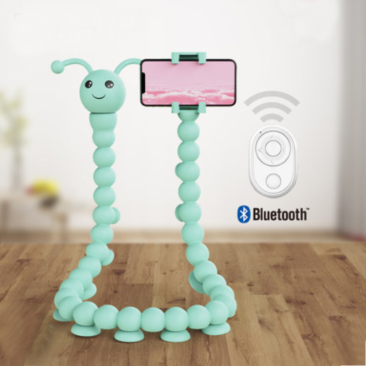360° Bendable Tentacle Phone Holder With Bluetooth Remote Controller, Compatible With Most Smartphones