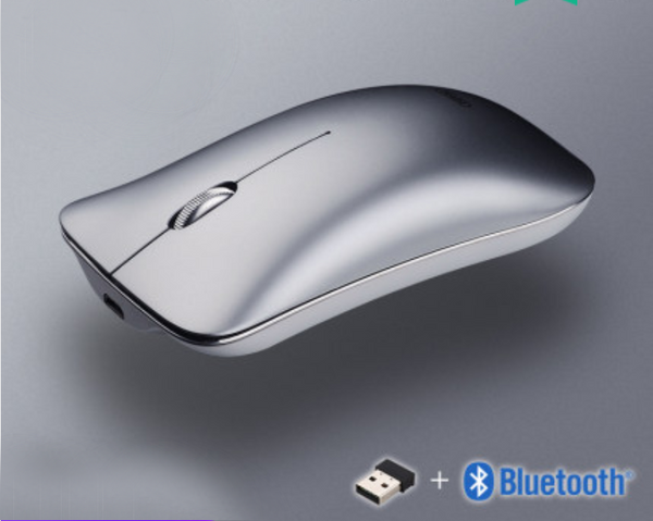 Rechargeable Mute Wireless Bluetooth Three-mode Mouse, with 10m Connection, Metal Frame, Magnetic Design