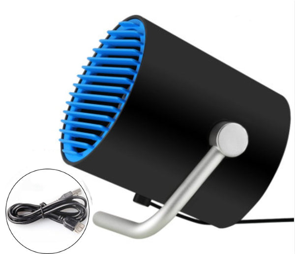 Portable Personal Desk Angle Adjustable USB Fan with Twin Turbo Blades, Touch Control, Whisper Quiet, for Home, Office, Outdoor & Travel
