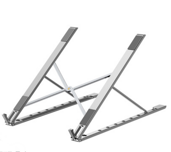 Adjustable Aluminum Laptop / Computer / Tablet Stand with 10 Levels Height Adjustment, Fully Collapsible, Ergonomic, Foldable and Portable, for Study, Work and Leisure