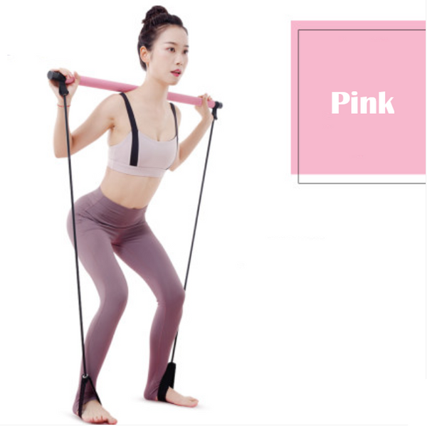 8-in-1 Portable Pilates Bar Kit with Resistance Band, Foot Loop, Ideal for Home Total Body Workout, Gym, Weightlifting