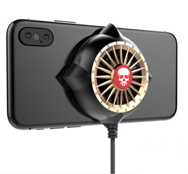 Portable Phone Cooling Stand with Two Fans, Back Clip, Power Bank & Low Noise, for Watching Plays, Playing Games and More