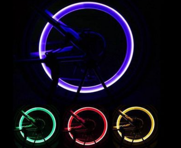 LED Tire Valve Stem Cap, Multi-Color Wheel Lights, for Safety and Visibility for Cars (4 Packs)