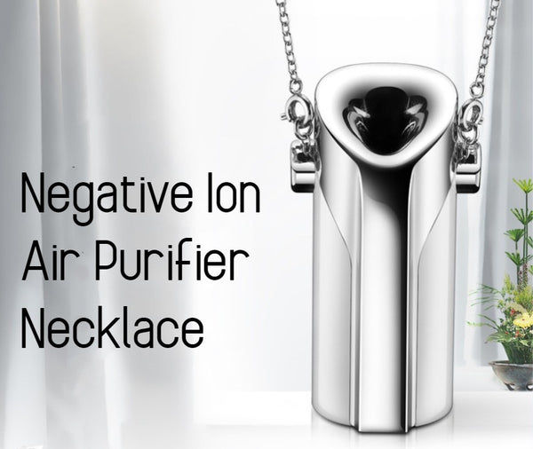 Portable Wearable Negative Ion Air Purifier Necklace with Light Weight, Silent Operation, High Efficiency, Energy-saving Design and Simple Shape