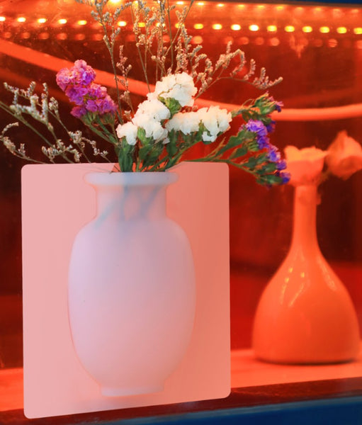 Reusable & Removable Magic Silicone Vase Sticker, for Home & Office Decoration