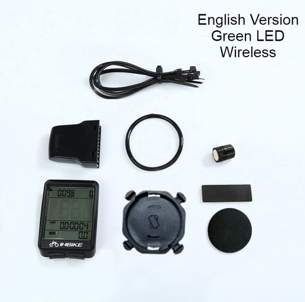 Waterproof Wireless Bicycle Speedometer and Odometer, with Stopwatch, Average Speed, Trip Time, Distance and LED Backlight, for Cycling