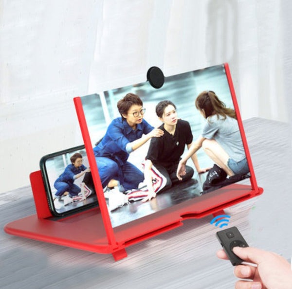 "12"" Foldable Smart Phone Screen Amplifier Projector, with Anti Blue Light, Large Screen, Suitable for Watching Movie Videos on All Smartphones"