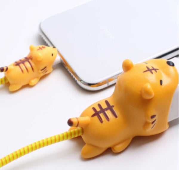 Cute Charging Cable Protector Set with Cable Protector and Dual Cable Cord Protectors, Breakproof & Easy Installation