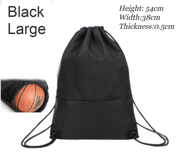 Lightweight & Waterproof Drawstring Backpack with Ball/Shoe Compartment and Dry Wet Separated Design, for Sports, Pool, Beach, Fitness, Soccer, Basketball and More