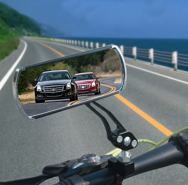 Adjustable & Rotatable Bicycle Rear View Mirror, with aluminum bracket and Tool-free Installation, for Safe Cycling