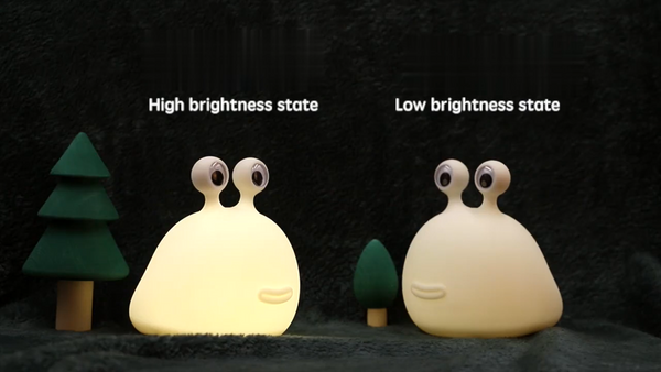 Rechargeable Snail Bedroom Night Light with Touch Control, Automatic Shut Off, Low Energy Consumption and Adjustable Brightness, for Office, Bedroom, Bathroom and More