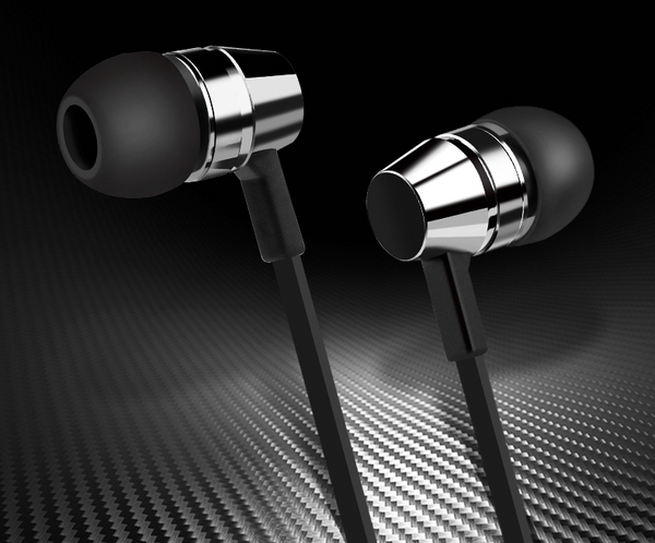 In-ear Stereo Wired Headphones, with Microphone, Good Sound Quality, Sturdy Cable, 3.5mm Jack and Ergonomic Design, for Office and Study