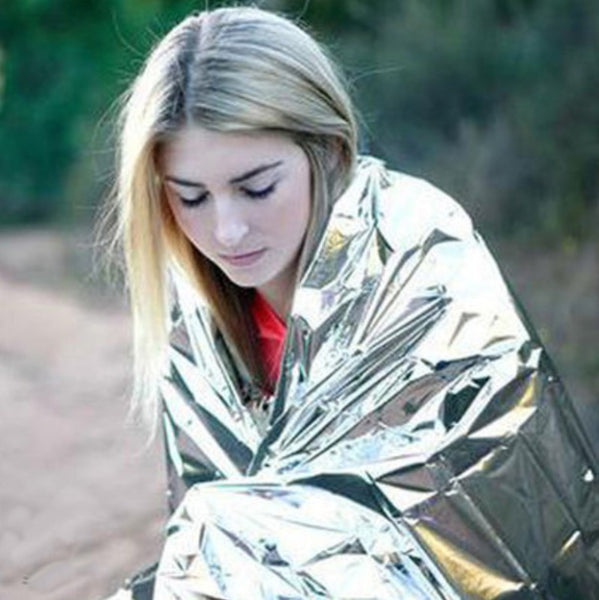 Compact and Waterproof Emergency Mylar Thermal Blankets for First Aid Kits, Natural Disaster Equipment and Retain Body Heat
