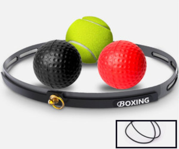 Boxing Reflex Ball Set, with 3 Difficulty Level Boxing Balls & Headband, for Reaction, Agility, Punching Speed, Fight Skill and Hand-Eye Coordination