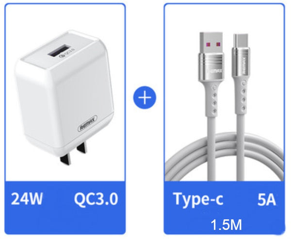 QC3.0 24W Fast-charging Wall Charger, with US Standard Plug, Intelligent Current Adjustment, Low-temperature Fast Charging & Durable Shell, for Android & iOS Devices