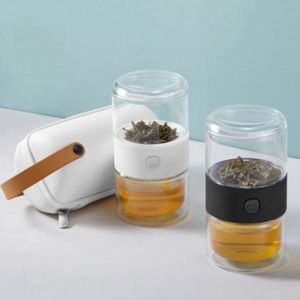 Portable Tea Infuser with Case, for Travel, Commute, Driving & More
