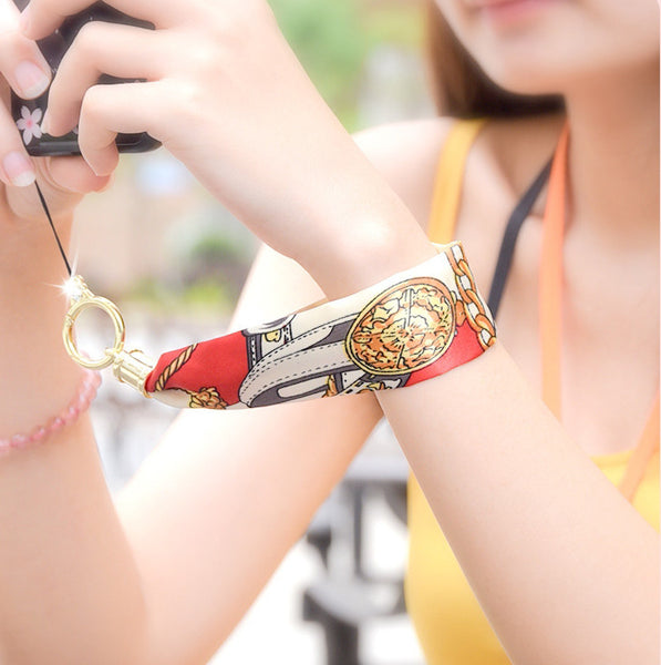 Always Operate That Big Screen Single-handed with Silk Wrap Bracelet