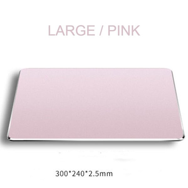 Waterproof Aluminum Mouse Pad, with Ultra-Thin & Double Side Design, for Gaming & Office