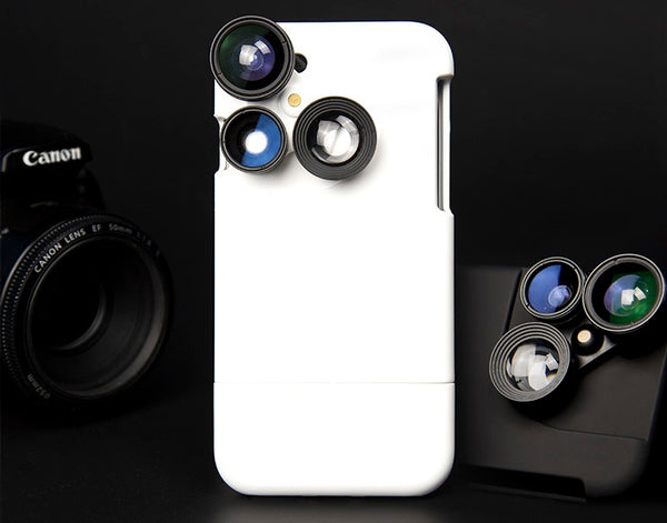 4-in-1 Lens Protective Phone Case for iPhone